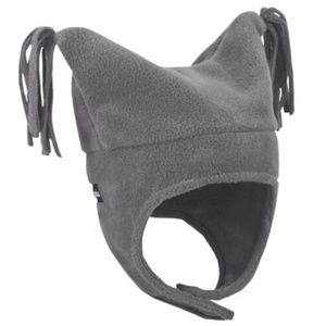 Columbia Gray Fleece Pigtail Hat Infant One Size